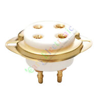 1pc 4pin Gold Ceramic vacuum Tube Valve Sockets For 300B 2A3 801 274A radio amp