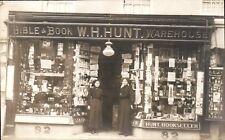 Poole. W.H.Hunt Shop Front. Bible & Book Warehouse.