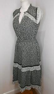 BNWT Kate Spade Broome Street Plains Ditsy dress prairie ruffle midi Small S NEW