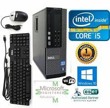 Dell PC DESKTOP Intel i5 4790 3.40g 16GB  NEW 500GB SSD Windows 10 Pro DVI Wifi