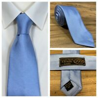 Frank Theak Roskilly London 100% Pure Silk Mens Light Blue Neck Tie - NEW