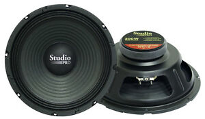 Pyramid WH10 10'' 300 Watt High Power Paper Cone 8 Ohm Subwoofer (Single)