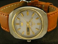 VINTAGE OMAX GENEVE AUTOMATIC SWISS MEN'S DAY/DATE WATCH 141-a112457-9