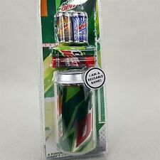 Mountain Dew Reusable Bank Can + 4 Flavored Lip Balms Code Red White Out tin BIN