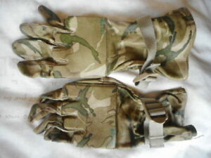 UK ISSUE MTP multicam LEATHER SHOOTING SNIPER WARM WEATHER COMBAT GLOVES 9 m
