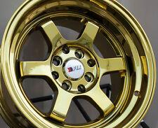 15x8 F1R F05 4x100/114.3 +0 Gold Chrome Wheel (1)