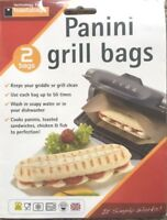 2 x PANINI GRILL BAGS – SNACK  LUNCH, REUSEABLE, PERFECT FOR GRIDDLES , 50 USES