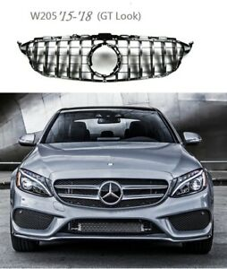 Front Grille Chrome GT Look FOR '2014-'2018 Mercedes Benz W205 C-Class