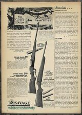 1954 SAVAGE Model 99 Lever & 340 Bolt-Action Rifle AD