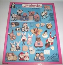 1992 WOODWORKS SMALL WOOD PARTS PAINT CRAFT PATTERN BOOK HOW TO #2298