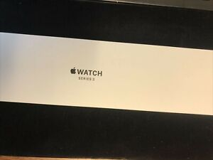 New Apple Watch Series 3  38mm  case Space Grey Aluminum Sport Band Black