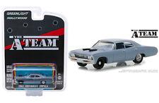 A-Team Tv Show 1967 Chevy Impala Diecast Car 1:64 Greenlight 3 inches Blue 44860