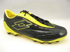 Lotto Mens Fuerzapura L500 Soccer Cleats Size 11.5 Black Cyder Yellow N1317 NEW