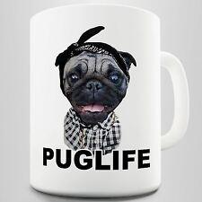 Pug Life Dog Gangster Novelty Mug