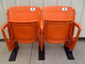 Tiger Stadium seats - ORANGE - Refurbished, Authentic w/ COA