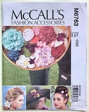 McCall 6763. Fashion Accessories. Fabric Flowers. Uncut, Factory Folded
