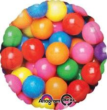 """Set of 2 18"""" Rainbow GUMBALL Balloons Round PARTY Hard to FIND FREE SHIPPING"""