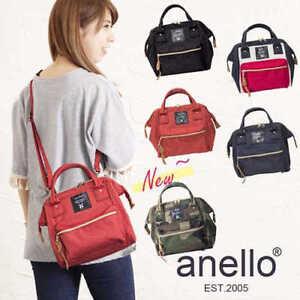 Japan Anello 3 Way Backpack Shoulder Bag Canvas Bag Handbag Women Small Size Bag