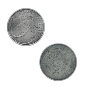 Moon Geocoin - Unactivated Trackable for Geocaching