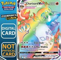 Charizard Vmax Rainbow RARE(ULTRARO)Champion's Path/Futuri Campioni DIGITAL CARD
