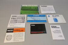Lot of camera Lens Lenses Guides Canon Tamron Sigma Minolta Pentax Vivitar Kiron