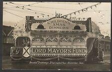 Postcard Bristol Avon Tramways an Illuminated Tram Car 1923 Lord Mayor's Fund RP