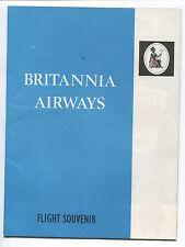 BRITANNIA AIRWAYS BRISTOL BRITANNIA 102 SAFETY CARD VINTAGE