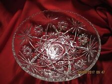 NICE CUT GLASS  SERVING/ PUNCH BOWL