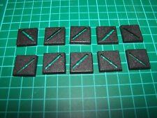 10 20mm Square Bases (bits)