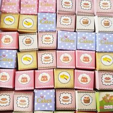 50x Cake Boxes 3cm Dollhouse Miniature Food Bakery Accessories Barbie Mixed Lots