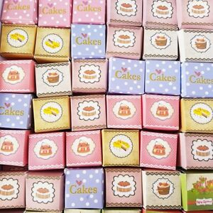 Dollhouse Miniature Food Bakery Accessories Barbie Cake Boxes 3cm Mixed Lots x50