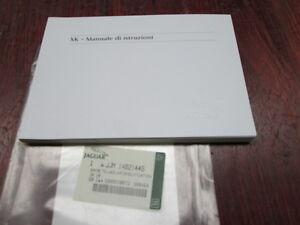 JAGUAR XK OWNERS MANUEL BOOK ( ITALIAN )  GENUINE NEW