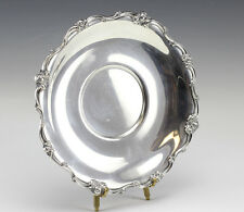 Gorham Sterling Silver Serving Plate, Mid Century, Repousse floral and scrolls