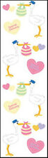 Mrs. Grossman's Stickers - Chubby Stork - Baby Delivery - 4 Strips