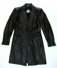 Sylvie Schimmel cappotto di pelle 38 40 NERO LEATHER COAT MANTEAU CUIR Top
