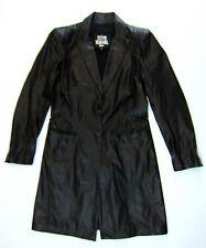 SYLVIE SCHIMMEL Ledermantel 38 40 schwarz leather coat manteau cuir top