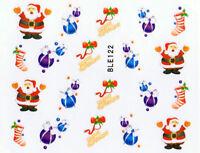 One Stroke Weihnachtssticker Nail Art #122