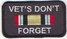 VETS DON'T FORGET - IRAQ VETERAN MILITARY EMBROIDERED PATCH