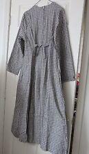 VT Country Store Green Mountain Grays B&W Checker Long Sl Flannel Maxi Dress 12