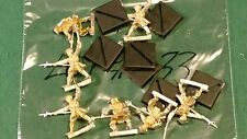 WOTC AEG Clan War metal spearmen warriors 7 clan ? bits lot #33 oop