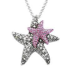 Silver Plated Daughterly Love Starfish Necklace Swarovski By Controse