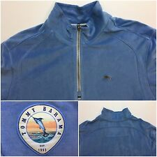 Tommy Bahama Paradise Men's LS 1/2 Zip Marlin Logo Sweater L Blue