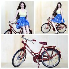 """1/6 Story Accessories Red A Bike/Bicycle Model Wheel Movable F 1/6 12"""" Figure"""