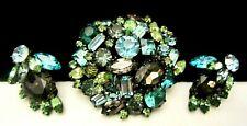 Rare Vintage Signed Original by Robert Jeweled Rhinestone Brooch & Earring Set