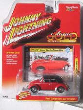 JOHNNY LIGHTNING 2016 CLASSIC GOLD 1975 VW SUPER BEETLE CONVERTIBLE #3 Red B