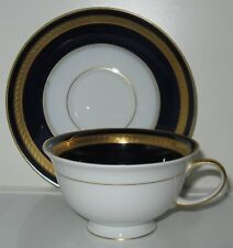 Rosenthal Eminence Cobalt Gold Winifred Coffee Cup(s) and Saucer(s)