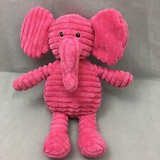 """Pink Elephant Corduroy Finish Embroidered Eyes Babies R Us Plush 12"""" Toy Lovey"""