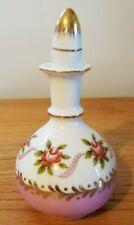 Vintage Nantucket Porcelain Perfume Bottle pink gold trim