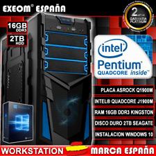 Ordenador Gaming Pc Intel Quad Core 9,6GHz 16GB 2TB HDMI De Sobremesa Windows 10