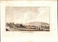 Grande Gravure XIXe Vue de la Ville de Vernon Eure 1835